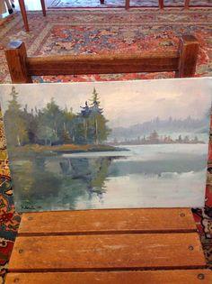 Paesaggio nebbioso dipinto da me Painting, Art, Painting Art, Paintings, Kunst, Paint, Draw, Art Education, Artworks