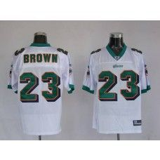 cb6075cd9de Dolphins Ronnie Brown  23 White Stitched NFL Jersey