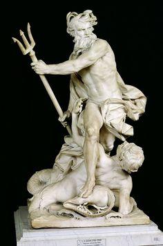Neptune calming the waves. 1757. Adam lambert Sigisbert. French. 1700-1759. marble.