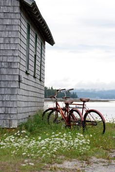 Bycicle Riding in Islesford, Maine