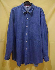 Comme Des Garcons Homme Shirt Denim Button Front XL L Japan Watanabe   eBay  Casual Shirts 73869745dd6b