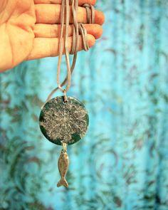 Fish Necklace by lithuanian artist Agne Latinyte (aka yuujin, yuujinaga) on Etsy shop