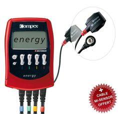 ELECTROESTIMULADOR COMPEX ENERGY MI READY + SENSOR MI GRATIS + 3 AÑOS GARANTIA