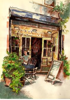 Urban Sketchers: Franklin Ave, Brooklyn, by Stephen Gardner.