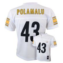 Troy Polamalu Pittsburgh Steelers White NFL Youth 2014-2015 Season Mid-tier Jersey - Official NFL T-Shirts and Hoodies at TeeShirtMadness.com