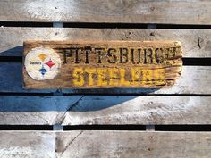 Pittsburgh Steelers Sign  Reclaimed Wood Sign by WOODruSAYIN