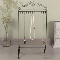 Black Necklace and Jewellery Stand for £12.00 at www.lisaangel.co.uk