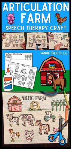 Farm themed articulation craft, no prep!