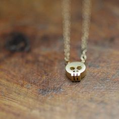 $30 Tiny Gold Skull! Perfect for #Halloween and beyond :)                    For Trisha