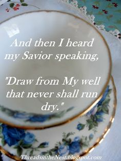 Threads in the Nest: Fill My Cup, Lord
