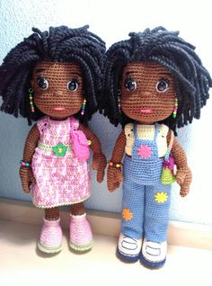 Muñecas Amigurumis Afro Crochet Shoes Pattern, Crochet Dolls Free Patterns, Doll Patterns, Crochet Toys, Crochet Baby, Afro, African American Dolls, Doll Tutorial, Sewing Toys