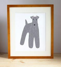 Kerry Blue Terrier Illustration
