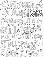 Courage Quotes Coloring Pages