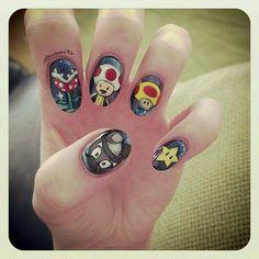 Mario kart Galaxy nails