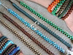 EASY..non*sense..: seed beads and jump rings bracelet #Beading #Jewelry #Tutorials