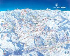 The famous Austrian ski resorts Lech, Zuerch, Stuben and St Anton open their on-piste link this December. It will make the Arlberg on. St Anton Austria, Austria Map, Austrian Ski Resorts, Austria Winter, Best Ski Resorts, Ski Holidays, Snow Skiing, Alps, Nature