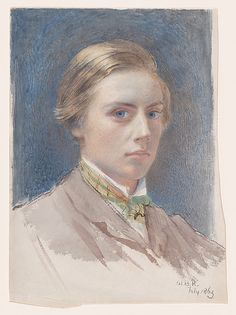 Sir William Blake Richmond (British, London 1842–1921 London). Self-portrait, aged 21, 1863. The Metropolitan Museum of Art, New York. The Elisha Whittelsey Collection, the Elisha Whittelsey Fund, 2016 (2016.588)