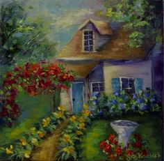 "Daily+Paintworks+-+""Cottage+Abode""+-+Original+Fine+Art+for+Sale+-+©+Bobbie+Koelsch"