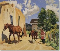 Walter Ufer  Two Mares