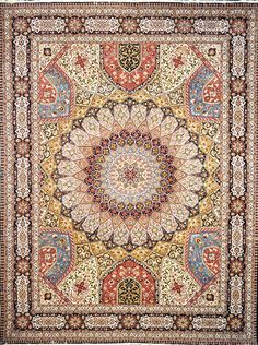 Gonbad Royalty Silk Persian Rug Geometric Size: 295 x 399 (cm) 8 x 1 (ft) Origin: Persian, Tabriz Foundation: Silk Material: Wool & Silk Weave: Hand Woven Persian Carpet, Persian Rug, Extra Large Area Rugs, Iranian Rugs, Tabriz Rug, Of Wallpaper, Floor Rugs, Rugs On Carpet, Painted Furniture