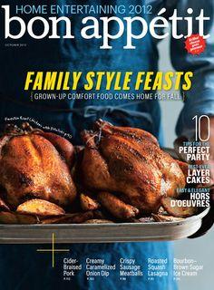 about Bon Appetit Magzine Covers on Pinterest | Table of contents, Bon ...