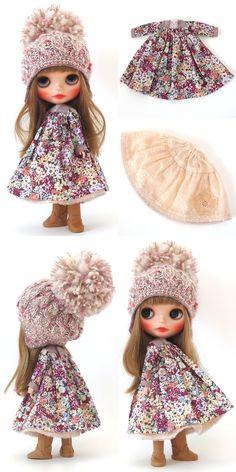 blueberryとraspberry お色違いの双子ちゃん 作品の紹介をさせていただきます♪ シックな小花柄が素敵なワン... Blythe Dolls, Barbie Dolls, Doll Toys, Tiny Dolls, New Dolls, Pretty Dolls, Beautiful Dolls, Doll Closet, Kawaii Doll