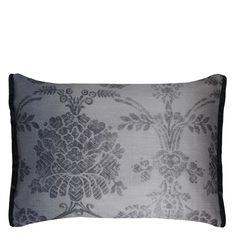 Sukumala Charcoal Cushion   Designers Guild
