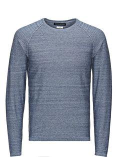 PREMIUM by JACK & JONES - Melange-Pullover von PREMIUM - Regular fit - Rundhalsausschnitt - Raglan-Ärmel - Bündchen und Saum sind gerippt 100% Baumwolle...