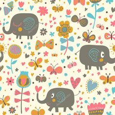 ELEPHANTS - depositphotos_25057099-stock-illustration-cartoon-seamless-pattern-for-childrens.jpg (1024×1024)