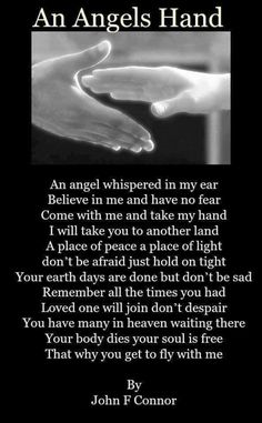 """I know he reached for an angel""""s hand."""