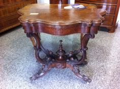 Irish game table,early Victorian period,walnut.