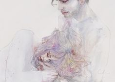 Amazing pencil and watercolor drawing! 'This Should Be The Place' by Silvia Pelissero