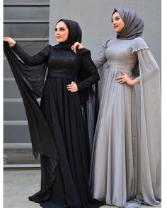 G r nt n n olas i eri i 2 ki i Hijab Evening Dress, Hijab Dress Party, Hijab Style Dress, Hijab Wedding Dresses, Women's Dresses, Evening Dresses, Muslim Women Fashion, Modern Hijab Fashion, Abaya Fashion