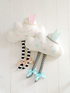 Cloud Pillow Cloud cushion Pillow Cloud Plush Happy by Jobuko