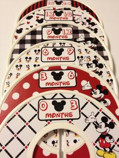6 Custom Baby Closet Clothes Dividers Mickey Mouse Nursery Baby Closet Organizers - Perfect Shower Gift - Disney Stocking Stuffers