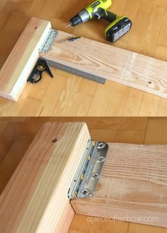 Woodworking Classes Near Me Diy Bed Frame Plans, Diy King Bed Frame, Bed Frame And Headboard, Wood Headboard, Wooden Bed Frame Diy, Bed Frames, Headboards, Diy Wood, Diy Bett