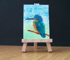 ACEO  Kingfisher Painting  £4.00