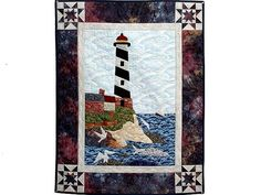 Amish Wall Quilts | Northeastern Lighthouse Wall Hanging