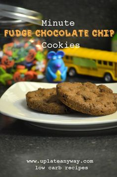 Up Late Anyway Low Carb Recipes minite #lowcarb #chocolate chip #cookies shared on https://facebook.com/lowcarbzen