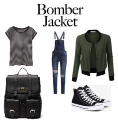 """""""Bomber jacket"""" by sofiamqt ❤ liked on Polyvore featuring LE3NO, Cheap Monday, MANGO, Converse, Sole Society and bomberjackets"""