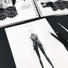 Fashion illustration by@marina_oberlin  fashion sketch, drawing, art #sketch #fashionsketch