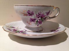 Vintage Unmarked Tea Cup and Saucer Set by TheDaintyBullet on Etsy, $18.00