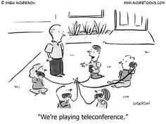 We're playing teleconference.