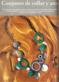 Patrones para Crochet: Collar Crochet Aros y Bolas