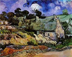 Houses+with+Thatched+Roofs,+Cordeville++-+Vincent+van+Gogh