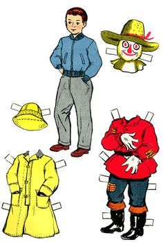Linda and Paul at Halloween Paper Dolls | Purple Kitty FREE JUST CLICK ON IT AND PRINT IT.