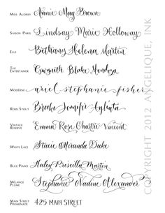 Hand Calligraphy Envelope Addressing - Style: Mélange Plume. $3.00, via Etsy.