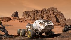 THE MARTIAN - Mars exploration vehicle. NASA is currently working on a vehicle that will be able to navigate tough terrain with the Multi-Mission Space Exploration Vehicle (MMSEV), which bears a resemblance to the rover used by astronaut Mark Watney in the film