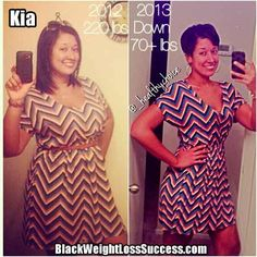 Weight Loss Success Story of the Day: Kia lost 73 pounds. Find out how she did it by eating clean and working out at home.