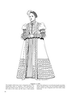 coloring page Clothing of the Renaissance on Kids-n-Fun. Coloring pages of Clothing of the Renaissance on Kids-n-Fun. More than coloring pages. At Kids-n-Fun you will always find the nicest coloring pages first! Adult Coloring Book Pages, Coloring Book Art, Cool Coloring Pages, Free Printable Coloring Pages, Costume Renaissance, Renaissance Clothing, Renaissance Fashion, 16th Century Clothing, 16th Century Fashion